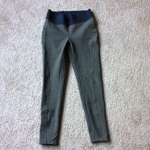 Loft ponte ankle zip leggings Olive